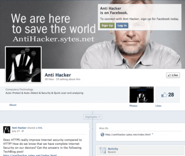 AntiHacker Facebook